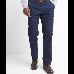 GAP Straight Blue Stretch Khakis